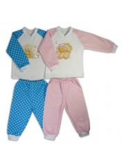 Пижама реглан для девочек (теплая)