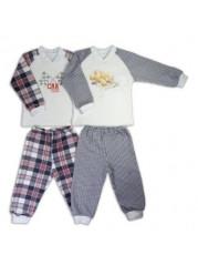 Пижама теплая реглан для мальчиков
