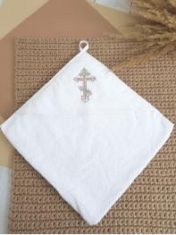 Полотенце крестильное, махра 80*80 см