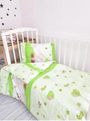 Комплект постельного белья ( простынь на резинке) Поплин Ангелочек зел