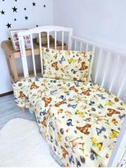 Комплект постельного белья ( простынь на резинке)  Лесные Жители