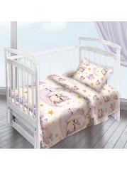 Комплект постельного белья ( простынь на резинке)  Совушки