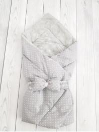 """Конверт-одеяло Малыш """"Серый горошек"""""""