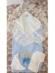Конверт на выписку Корона, лето Цвет : голубой