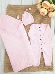 Комплект для новорожденного Мишель, цвет:  нежно-розовый