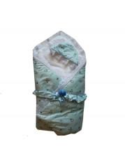 Конверт на выписку Дружочек, Цвет : голубой