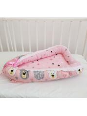 """Кокон гнездышко для новорожденного """"Мишки+звезды на дев"""""""