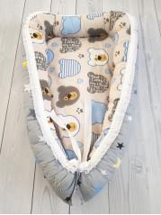 """Кокон гнездышко для новорожденного """"Мишка+звезда"""""""
