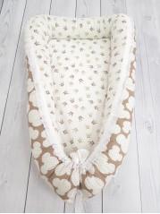 """Кокон гнездышко для новорожденного """"Микки+короны"""" мод.22"""