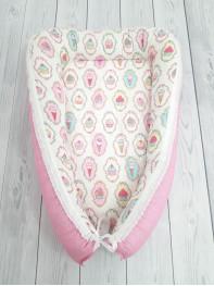 """Кокон гнездышко для новорожденного """"Пироженки"""" мод.24"""