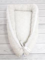 Кокон гнездышко для новорожденного мод.29 Белый дамаск