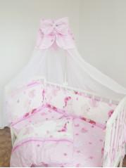 Набор в кроватку 7 предметов Ангелочек,  цвет розовый