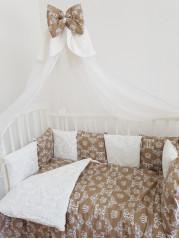 """Набор для новорожденного в кроватку """"Дамаск - Корона"""""""