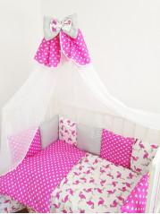 Набор в кроватку Фламинго