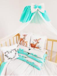 Бортики в кроватку из подушечек Бемби Люкс