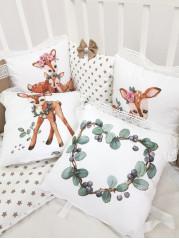 Набор в кроватку из подушечек Бемби Люкс в коричневых тонах