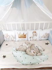 Набор в кроватку из подушечек Маленький Принц - Little Prince , цвет голубой
