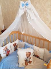 Набор в кроватку из подушечек Мишка со штурвалом