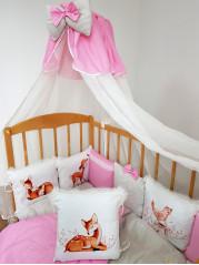 Борт  в кроватку из подушечек Оленята Люкс