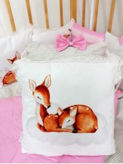 Набор в кроватку из подушечек Оленята Люкс