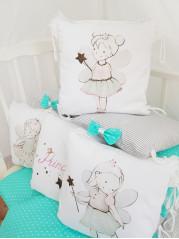 """Набор в кроватку из подушечек """"Маленькая Принцесса"""""""