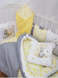 """Набор в кроватку из подушечек """"Зайка с лестницей на луну"""""""