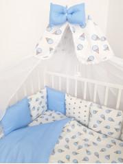 Бортик из подушечек Мороженое в голубом цвете