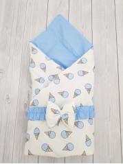 "Конверт-одеяло Малыш ""Мороженки голубые"""