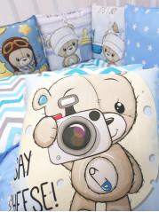 Набор в кроватку из подушечек Мишка мальчик