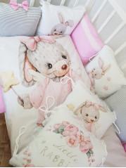 """Набор в кроватку из подушечек """"Зайка принцесса"""""""