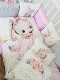 """Набор в кроватку из подушечек """"Зайка принцесса Little rabbit"""""""