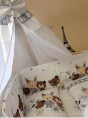 Набор в кроватку №1, стеганые чехлы