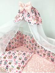 Набор в кроватку, мод. Мультяшки Девочки