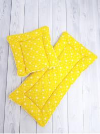 Набор в коляску 2х предметный, цвет желтый
