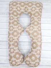 Подушка для беременных Восьмерка, цвет коричневый
