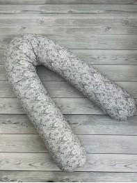 Подушка для беременных  Подкова, цвет 6, серый дамаск