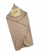Полотенце уголок, цвет шоколад