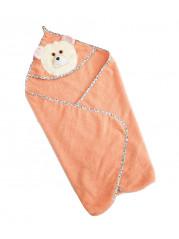 Полотенце уголок, цвет персик