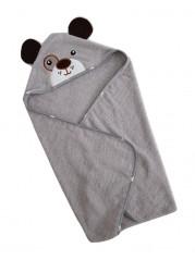 Полотенце уголок, цвет серый