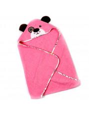 Полотенце уголок, цвет розовый