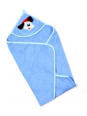 Полотенце уголок, цвет синий