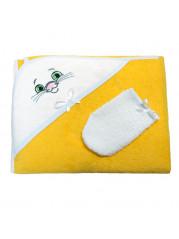 Набор полотенце+варежка